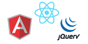 angular react jquery logo